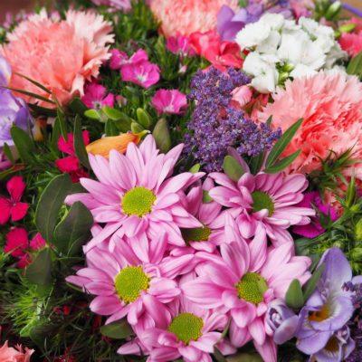 Ramo De Flores Con Claveles, Crisantemos Y Fresias - Belice