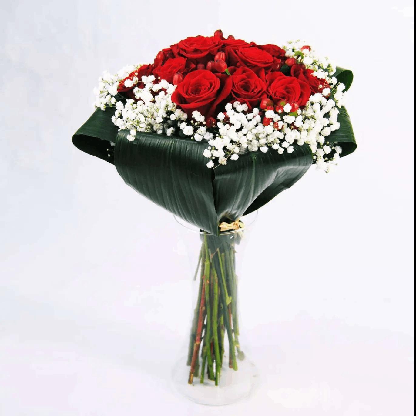 Ramo de 12 Rosas Rojas para San Valentín