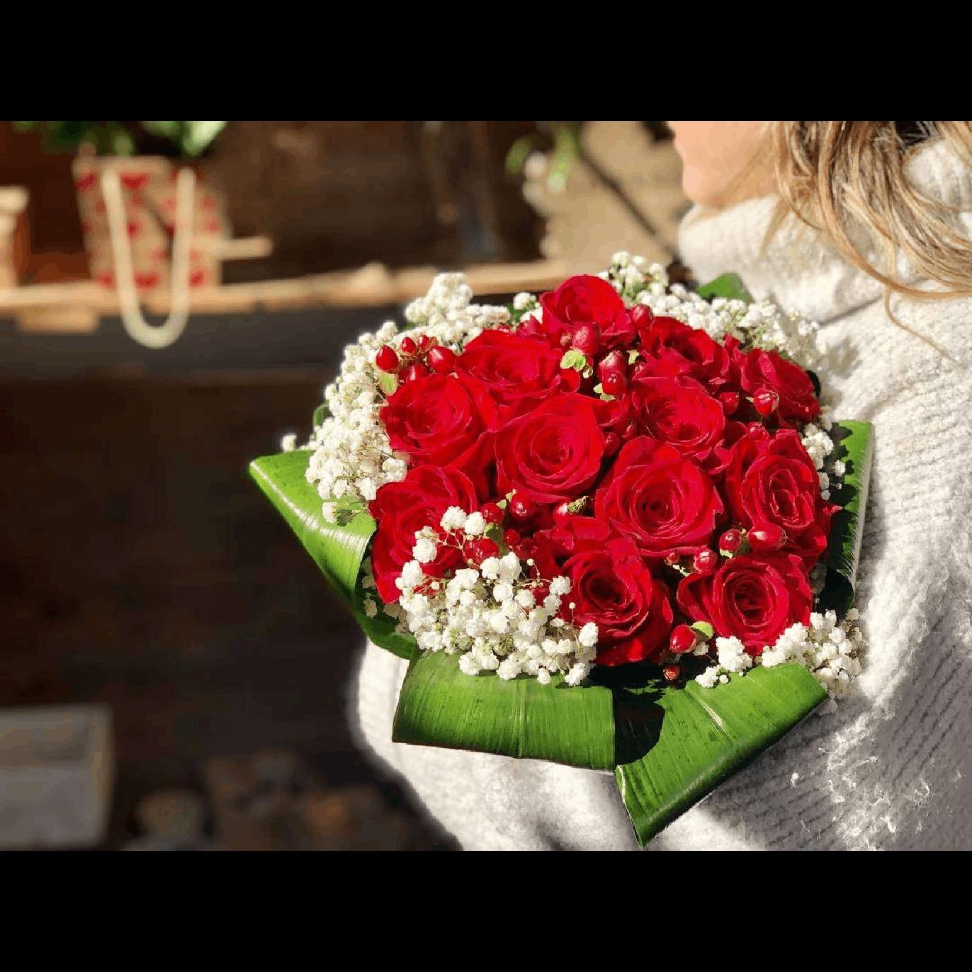 Ramo para Sant Valentín de 12 Rosas Rojas