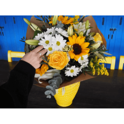 Enviar Ramo Flores Rosas Amarillas Margaritas Girasoles