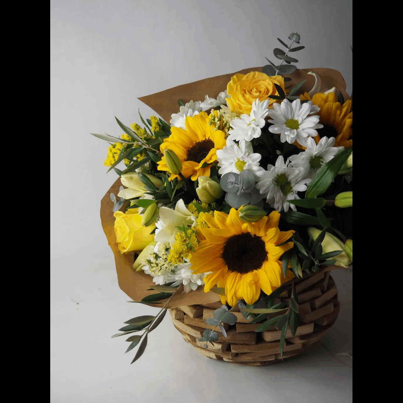 regalar flores rosas amarillas margaritas girasoles