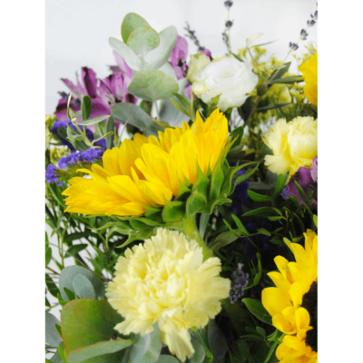 Ramo De Flores Con Girasoles, Lavanda, Claveles A Domicilio