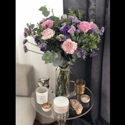 Regalar Ramo De Flores Con Rosas Y Claveles Rosas