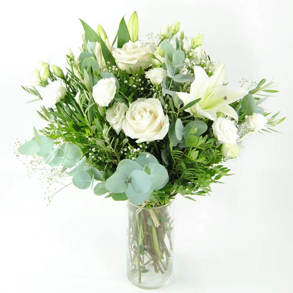 flores rosas blancas lirios lisantium