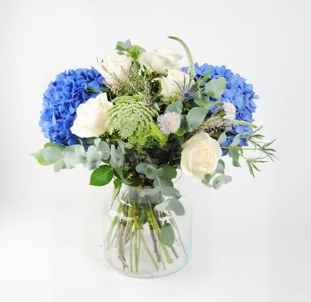 ramo de flores azul - originalflor